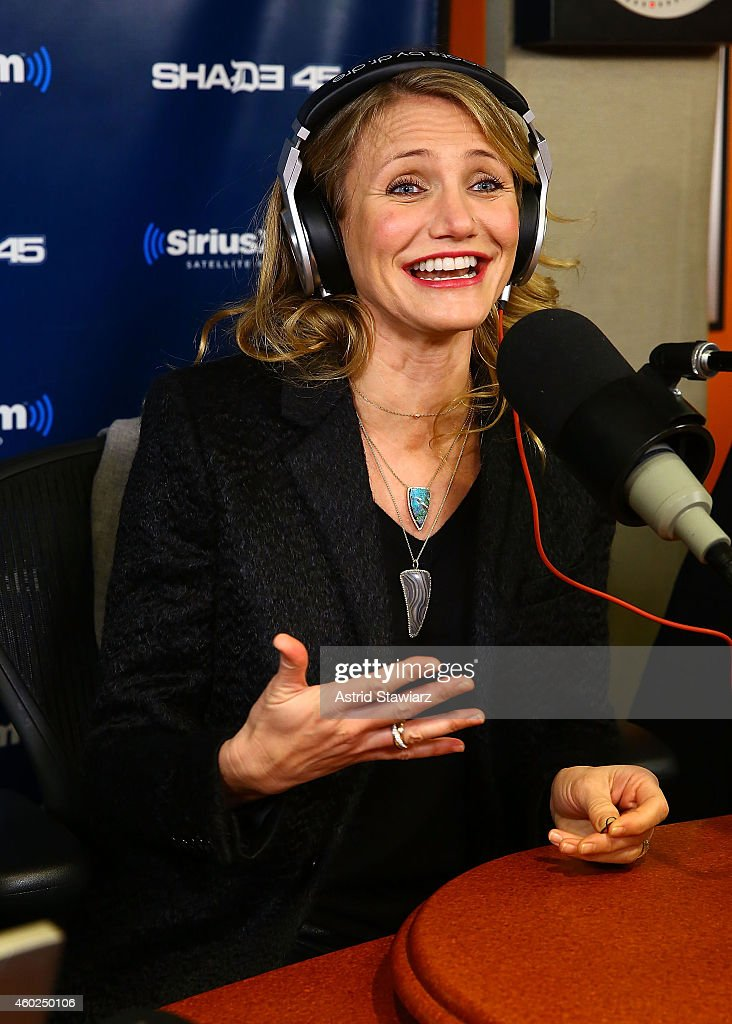 Actress Cameron Diaz visits 'Sway in the Morning' on Shade 45 at the SiriusXM Studios on December 10, 2014 in New York City.