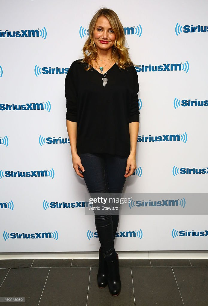 Actress <a gi-track='captionPersonalityLinkClicked' href=/galleries/search?phrase=Cameron+Diaz&family=editorial&specificpeople=201892 ng-click='$event.stopPropagation()'>Cameron Diaz</a> visits the SiriusXM Studios on December 10, 2014 in New York City.