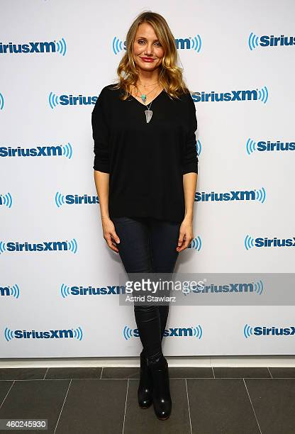 Actress Cameron Diaz visits the SiriusXM Studios on December 10 2014 in New York City