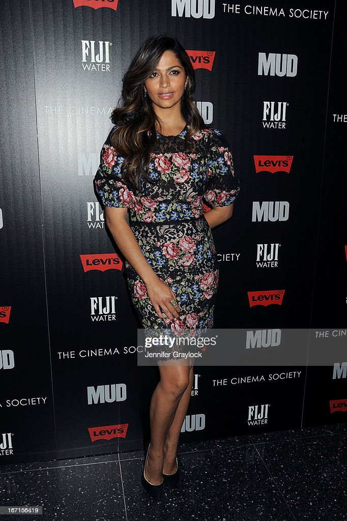 Actress <a gi-track='captionPersonalityLinkClicked' href=/galleries/search?phrase=Camila+Alves&family=editorial&specificpeople=4501431 ng-click='$event.stopPropagation()'>Camila Alves</a> attends The Cinema Society Screening Of 'Mud' hosted by Fiji Water and Levis held at The Museum of Modern Art on April 21, 2013 in New York City.
