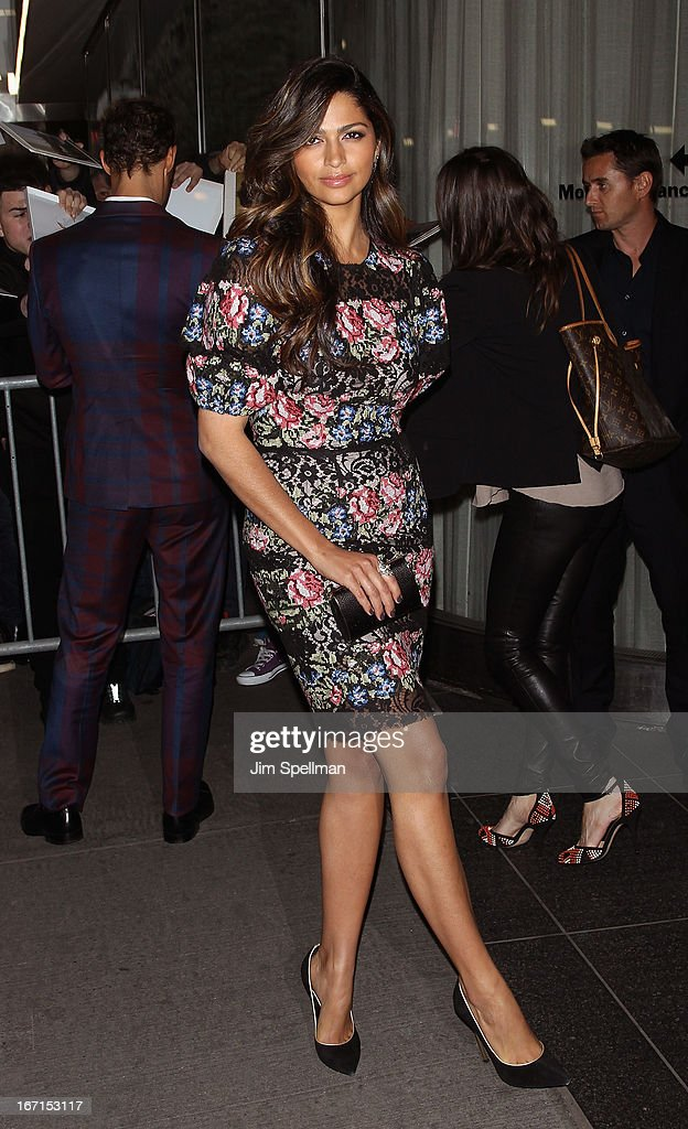 Actress <a gi-track='captionPersonalityLinkClicked' href=/galleries/search?phrase=Camila+Alves&family=editorial&specificpeople=4501431 ng-click='$event.stopPropagation()'>Camila Alves</a> attends the Cinema Society with FIJI Water & Levi's screening of 'Mud' at The Museum of Modern Art on April 21, 2013 in New York City.