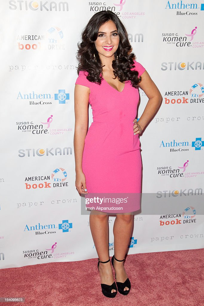 Actress Camila Banus attends the 2nd Annual Designs For The Cure Gala at Millennium Biltmore Hotel on October 13, 2012 in Los Angeles, California.