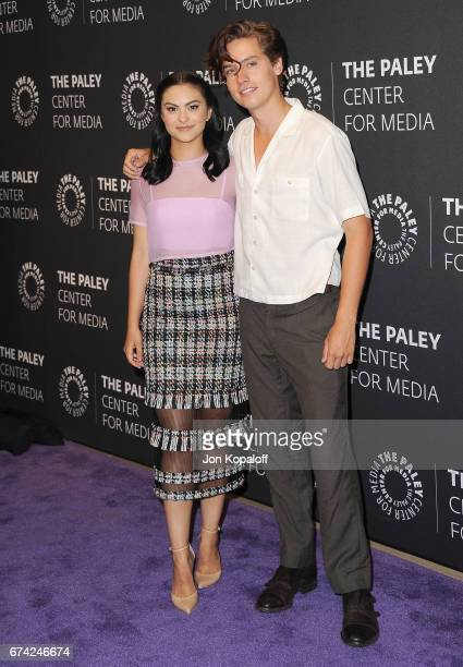 Actress Camila Mendes and actor Cole Sprouse arrive at the 2017 PaleyLive LA Spring Season 'Riverdale' Screening And Conversation at The Paley Center...