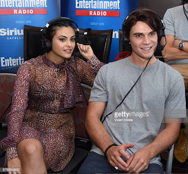 Actress Camila Mendes and actor KJ Apa attend SiriusXM's Entertainment Weekly Radio Channel Broadcasts From ComicCon 2016 at Hard Rock Hotel San...