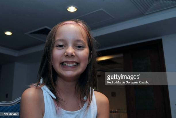 Actress Camila Robertson Glennie smiles during the 59th Ariel Awards Nominees Event at Fiesta Americana Hotel on June 21 2017 in Mexico City Mexico