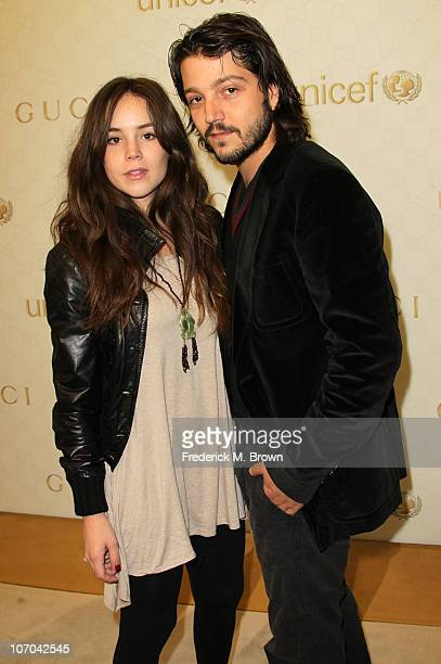 Actress Camila Sodi and actor Diego Luna attend the Launch of Gucci Children's Collection on November 20 2010 in Beverly Hills California