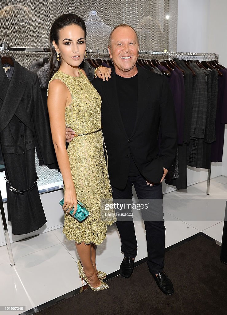 Actress <a gi-track='captionPersonalityLinkClicked' href=/galleries/search?phrase=Camilla+Belle&family=editorial&specificpeople=210585 ng-click='$event.stopPropagation()'>Camilla Belle</a> and designer Michael Kors attend Kors Collaborations: Claiborne Swanson Frank on September 13, 2012 in New York City.