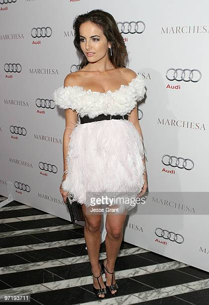 Actress Camilla Belle arrives at an Oscar red carpet fashion cocktail party hosted by Audi at Cecconi's Restaurant on February 28 2010 in West...