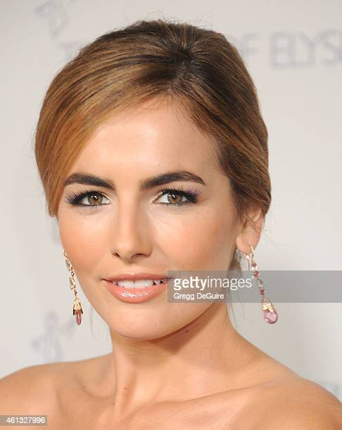 Actress Camilla Belle arrives at The Art Of Elysium's 8th Annual Heaven Gala at Hangar 8 on January 10 2015 in Santa Monica California