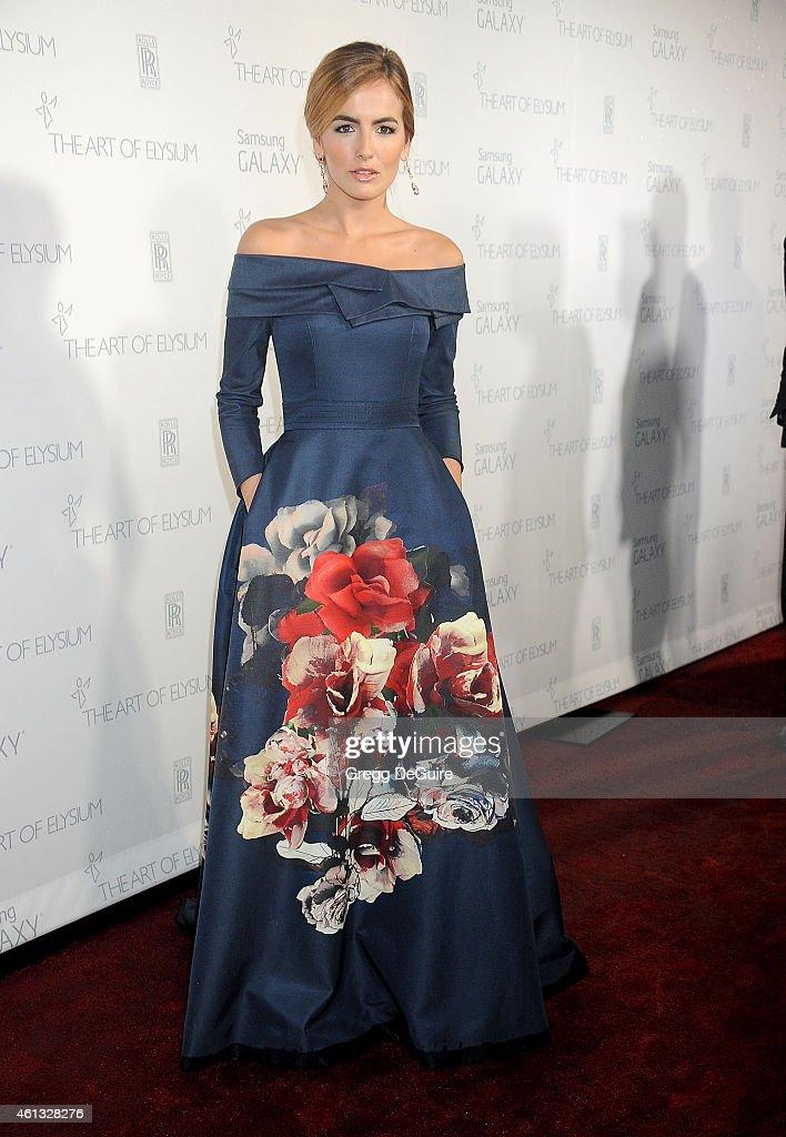 Actress Camilla Belle arrives at The Art Of Elysium's 8th Annual Heaven Gala at Hangar 8 on January 10 2015 in Santa Monica California