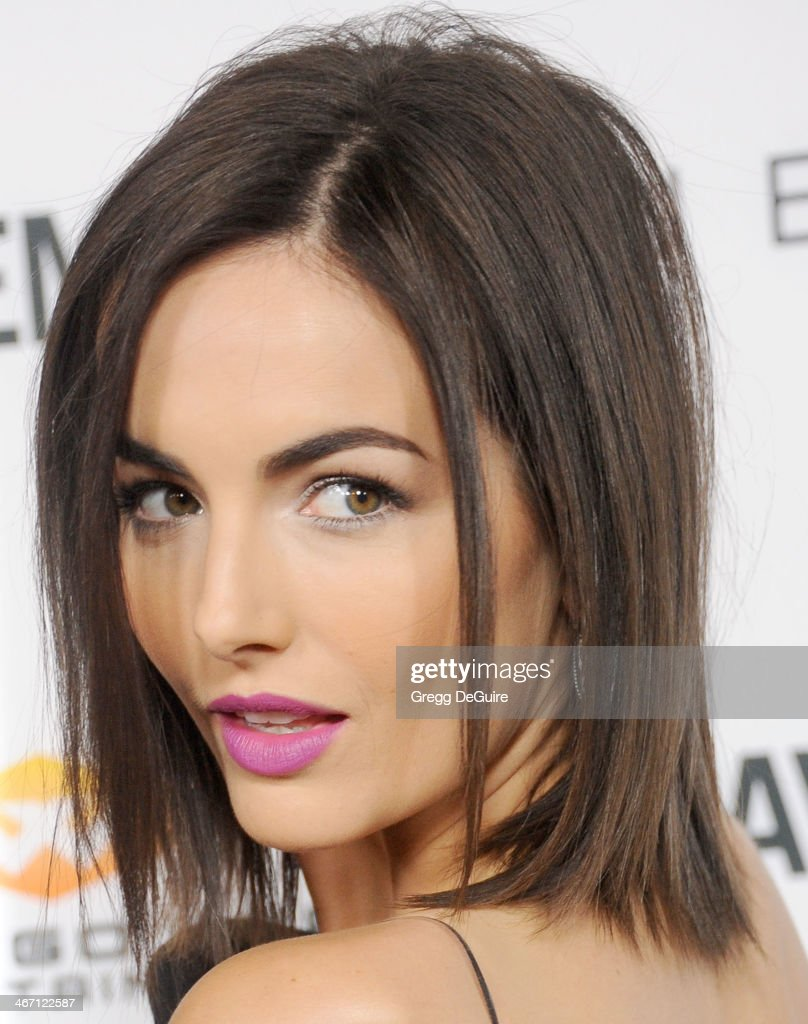 Actress <a gi-track='captionPersonalityLinkClicked' href=/galleries/search?phrase=Camilla+Belle&family=editorial&specificpeople=210585 ng-click='$event.stopPropagation()'>Camilla Belle</a> arrives at the Los Angeles premiere of 'Cavemen' at ArcLight Hollywood on February 5, 2014 in Hollywood, California.