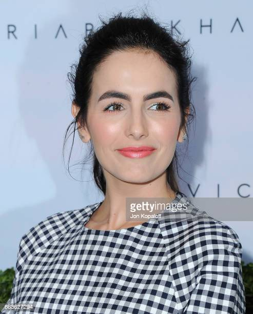 Actress Camilla Belle arrives at Victoria Beckham For Target Launch Event at Private Residence on April 1 2017 in Los Angeles California