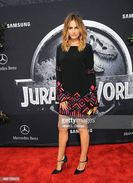 Actress Camilla Belle arrives for the Premiere Of Universal Pictures' 'Jurassic World' held in the courtyard of Hollywood Highland on June 9 2015 in...