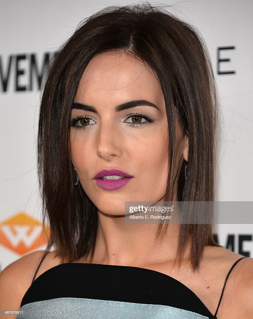 Actress Camilla Belle arrives to the premiere of 'Cavemen' at the ArcLight Cinemas on February 5, 2014 in Hollywood, California.