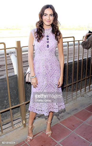 Actress Camilla Belle at the 2016 Breeders' Cup World Championships at Santa Anita Park on November 5 2016 in Arcadia California
