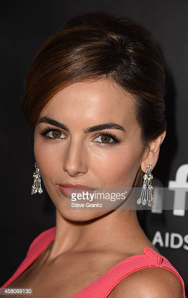 Actress Camilla Belle attends amfAR LA Inspiration Gala honoring Tom Ford at Milk Studios on October 29 2014 in Hollywood California