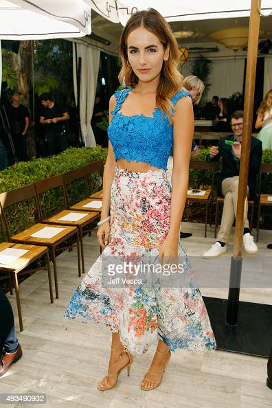 Actress Camilla Belle attends CFDA/Vogue Fashion Fund Show and Tea at Chateau Marmont on October 20 2015 in Los Angeles California