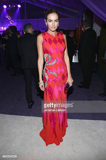 Actress Camilla Belle attends ROCA PATRON TEQUILA at the 23rd Annual Elton John AIDS Foundation Academy Awards Viewing Party on February 22 2015 in...