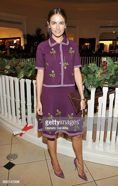 Actress Camilla Belle attends the Brooks Brothers holiday party with St Jude Children's Research Hospital at Brooks Brothers on Rodeo Drive on...