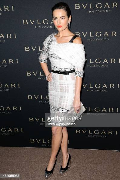 Actress Camilla Belle attends the BVLGARI 'Decades of Glamour' Oscar Party at Soho House on February 25 2014 in West Hollywood California
