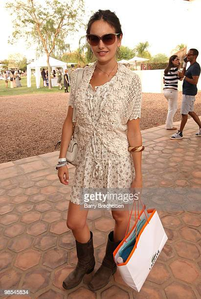 Actress Camilla Belle attends the LACOSTE Pool Party during the 2010 Coachella Valley Music Arts Festival on April 17 2010 in Indio California