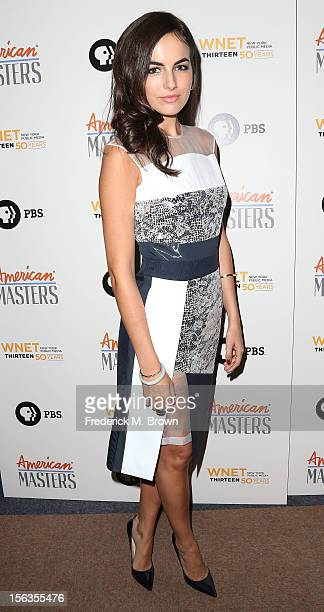 Actress Camilla Belle attends the Premiere Of 'American Masters Inventing David Geffen' at The Writers Guild of America on November 13 2012 in...
