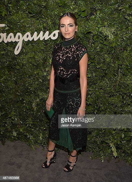 Actress Camilla Belle attends the Salvatore Ferragamo Celebration of 100 Years in Hollywood with the newly unveiled Rodeo Drive flagship at Salvatore...
