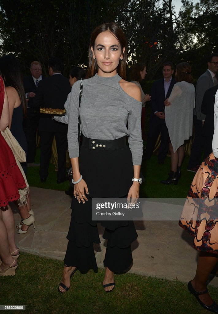 Actress Camilla Belle attends the special event for UN Secretary-General Ban Ki-moon hosted by Brett Ratner and David Raymond at Hilhaven Lodge on August 10, 2016 in Los Angeles, California.