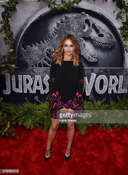 Actress Camilla Belle attends the Universal Pictures' 'Jurassic World' premiere at the Dolby Theatre on June 9 2015 in Hollywood California