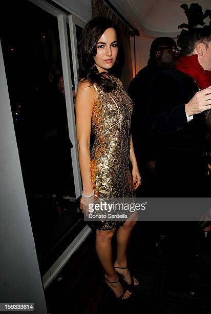 "Actress Camilla Belle attends W Magazine's 'Best Performances Issue"" and the Golden Globe Awards celebration with W Magazine Cadillac and Dom..."