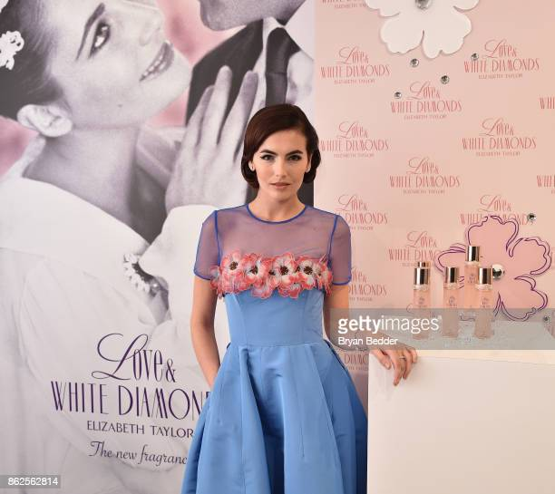 Actress Camilla Belle cohosts Elizabeth Taylor Love White Diamonds New Fragrance Launch at the Academy Mansion on October 17 2017 in New York City