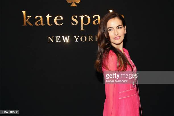 Actress Camilla Belle poses at kate spade new york Spring 2017 Fashion Presentation at Russian Tea Room on February 10 2017 in New York City
