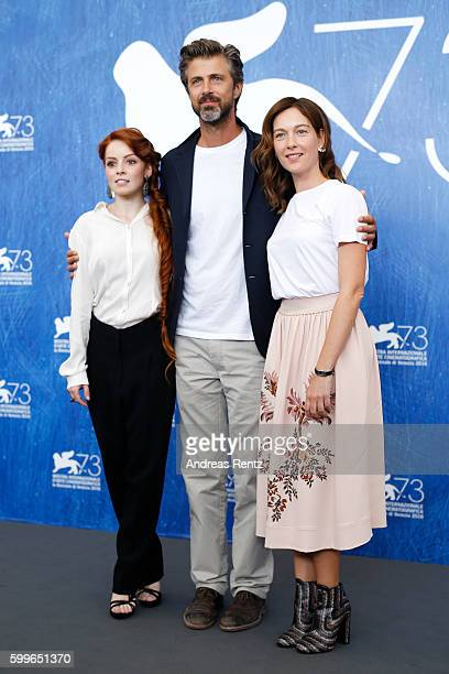 Actress Camilla Diana director Kim Rossi Stuart and actress Cristiana Capotondi attend a photocall for 'Tommaso' during the 73rd Venice Film Festival...