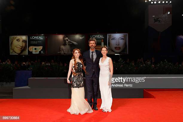 Actress Camilla Diana director Kim Rossi Stuart and actress Cristiana Capotondi attend the premiere of 'Tommaso' during the 73rd Venice Film Festival...