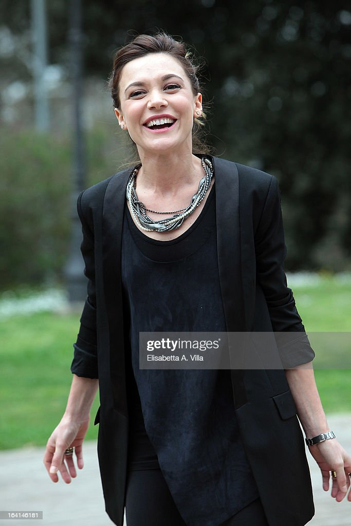 Actress Camilla Ferranti attends 'Outing Fidanzati Per Sbaglio' photocall at Casa del Cinema on March 20, 2013 in Rome, Italy.