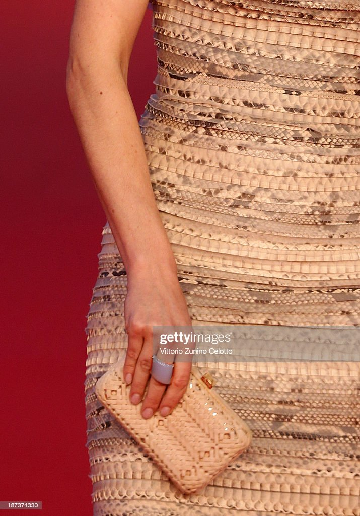 Actress Camilla Filippi (detail) attends 'Il Mondo Fino In Fondo' Premiere during The 8th Rome Film Festival at the Auditorium Parco Della Musica on November 8, 2013 in Rome, Italy.