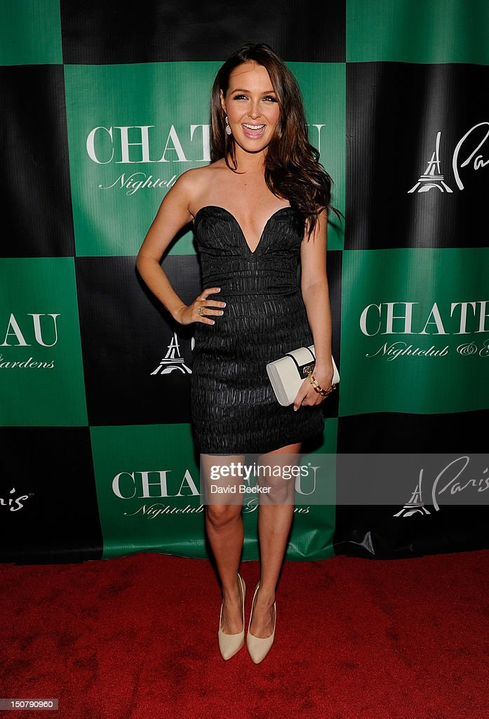 Actress Camilla Luddington arrives at Chateau Nightclub & Gardens at the Paris Las Vegas on August 25, 2012 in Las Vegas, Nevada.