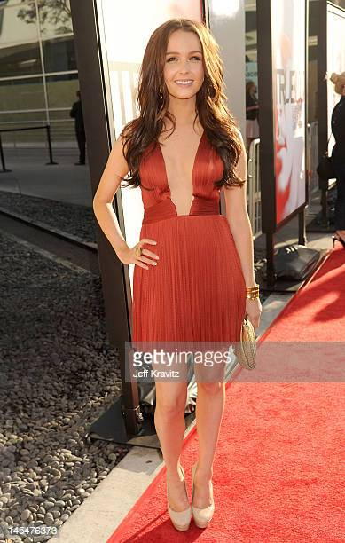 Actress Camilla Luddington arrives at HBO 'True Blood' season 5 premiere held at ArcLight Cinemas Cinerama Dome on May 30 2012 in Hollywood California