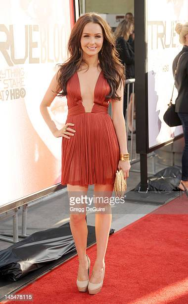Actress Camilla Luddington arrives at HBO's 'True Blood' Season 5 Los Angeles premiere at ArcLight Cinemas Cinerama Dome on May 30 2012 in Hollywood...