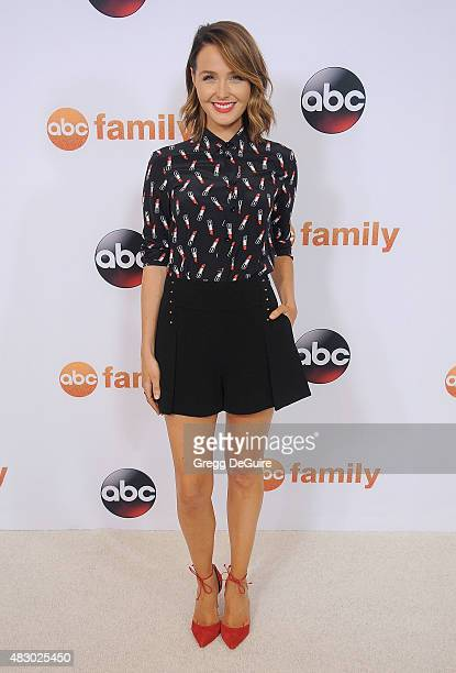 Actress Camilla Luddington arrives at the Disney ABC Television Group's 2015 TCA Summer Press Tour on August 4 2015 in Beverly Hills California