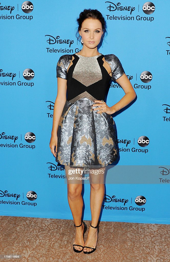 Actress Camilla Luddington arrives at the Disney/ABC Party 2013 Television Critics Association's Summer Press Tour at The Beverly Hilton Hotel on August 4, 2013 in Beverly Hills, California.