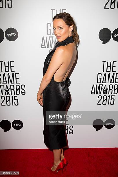 Actress Camilla Luddington arrives at The Game Awards 2015 Arrivals at Microsoft Theater on December 3 2015 in Los Angeles California