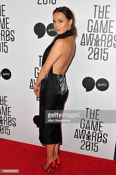 Actress Camilla Luddington arrives at The Game Awards 2015 at Microsoft Theater on December 3 2015 in Los Angeles California