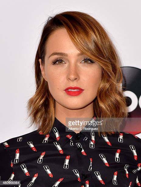 Actress Camilla Luddington attends Disney ABC Television Group's 2015 TCA Summer Press Tour at the Beverly Hilton Hotel on August 4 2015 in Beverly...