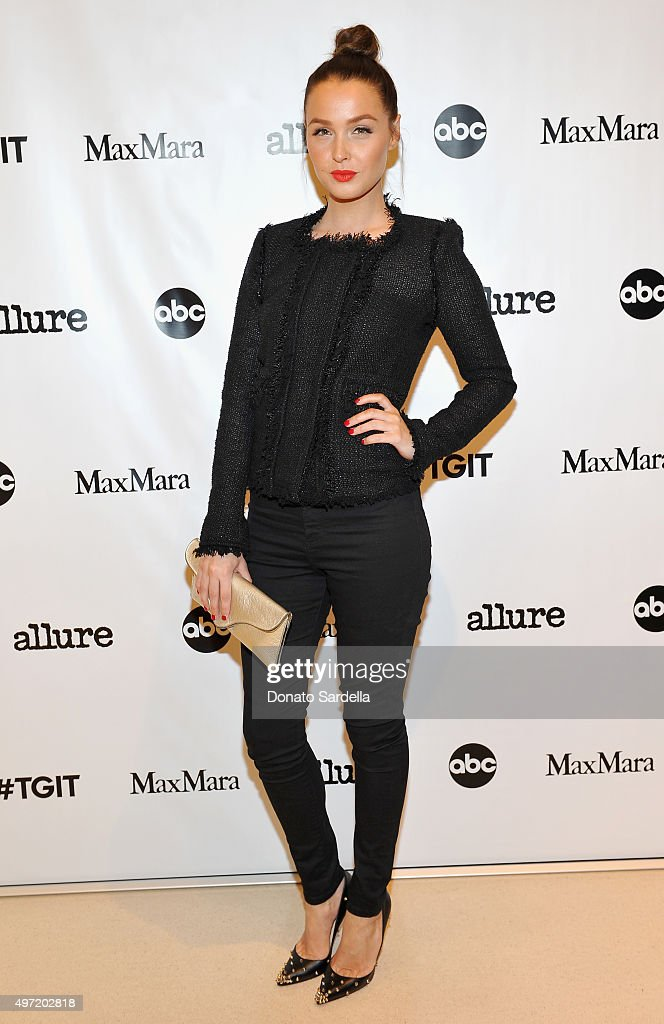 Actress Camilla Luddington attends 'MaxMara & Allure Celebrate ABC's #TGIT' at MaxMara on November 14, 2015 in Beverly Hills, California.