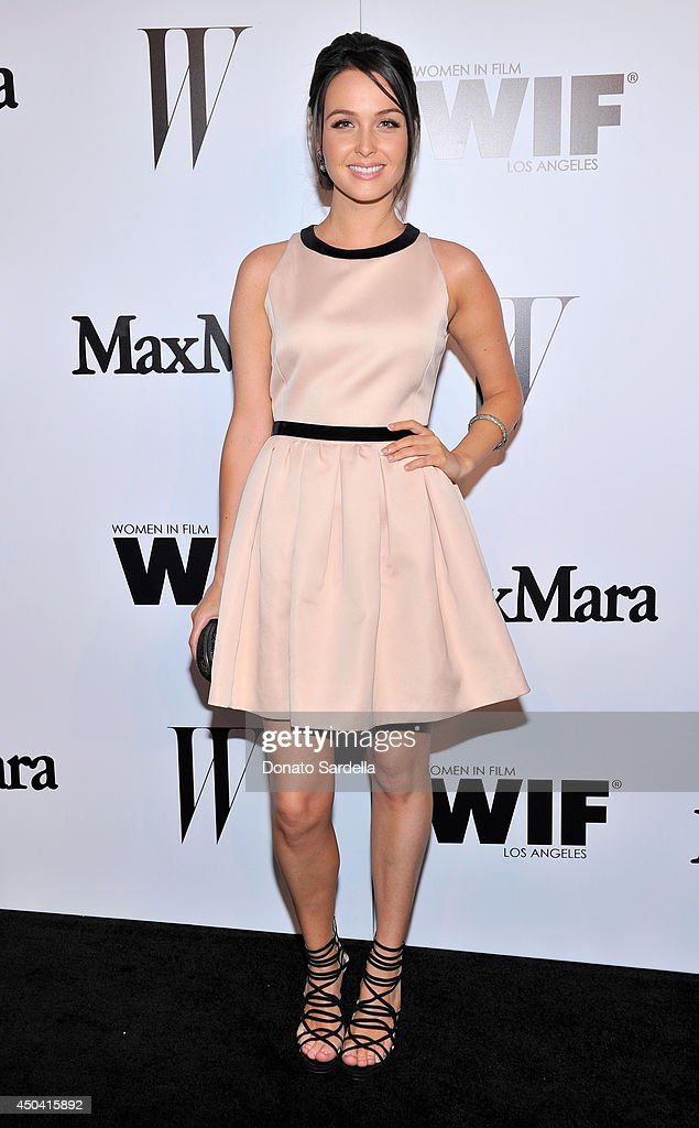 Actress Camilla Luddington attends MaxMara And W Magazine Cocktail Party To Honor The Women In Film MaxMara Face Of The Future, Rose Byrne at Chateau Marmont on June 10, 2014 in Los Angeles, California.