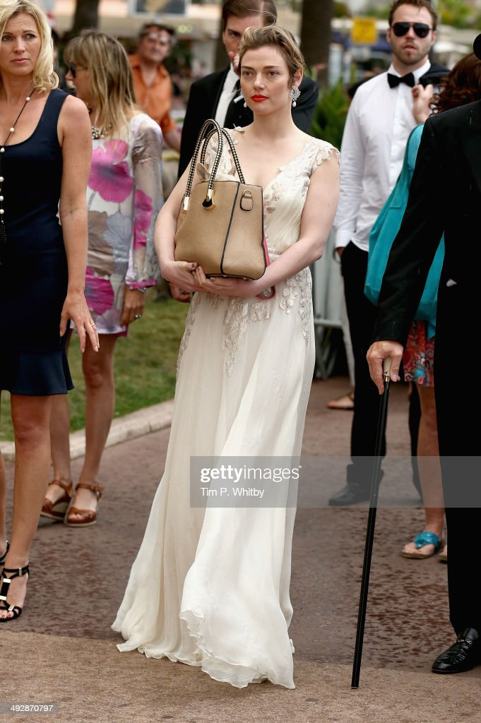 Actress Camilla Rutherford on set of 'Palm Dog' during the 67th Annual Cannes Film Festival on May 22 2014 in Cannes France