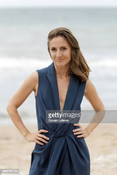 Actress Camille Chamoux attends 'le ciel etoile audessus de ma tete' photocall during the 2nd day of 31st Cabourg Film Festival on June 15 2017 in...