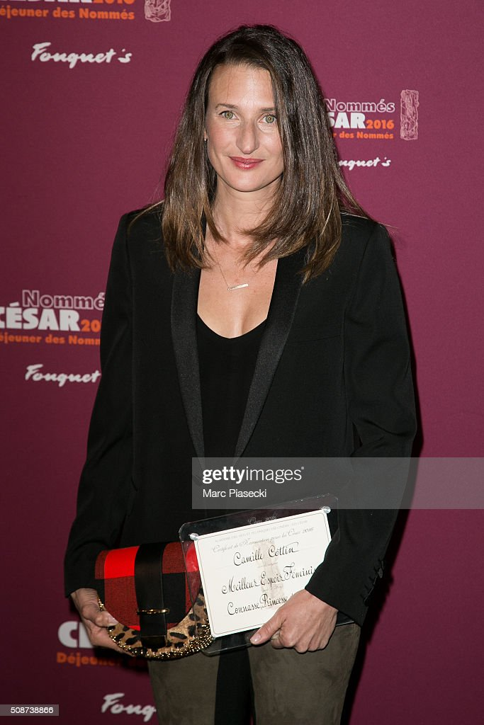 Actress Camille Cottin attends the 'Cesar 2016- Nominee luncheon' at Le Fouquet's on February 6, 2016 in Paris, France.