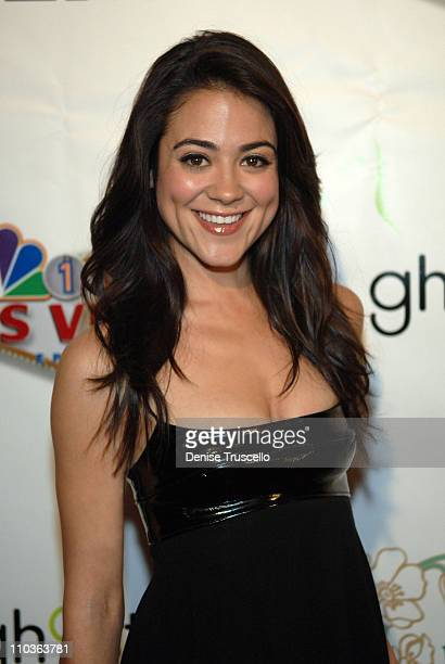 Actress Camille Guaty arrives at the 'Keys to the City' ceremony as the show 'Las Vegas' celebrates its 100th episode at Ghostbar at The Palms Casino...
